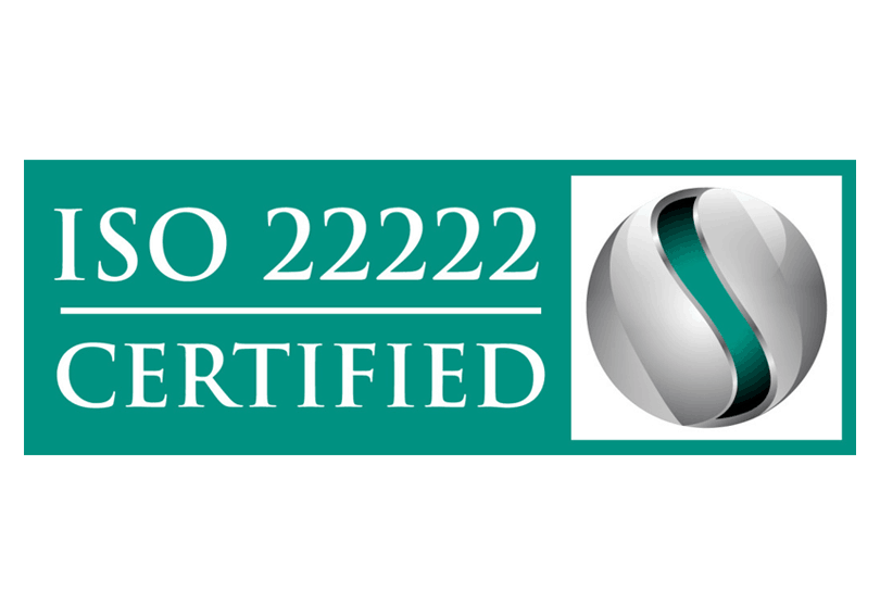 ISO22222 Certification